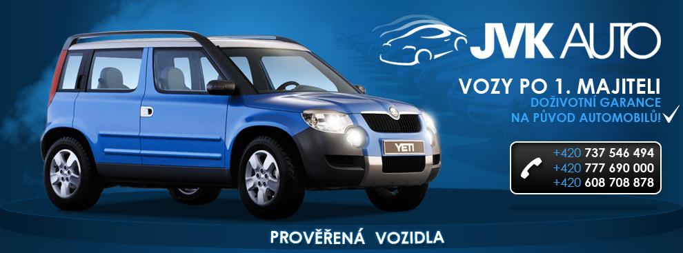 JVK Auto - vozy po 1. majiteli